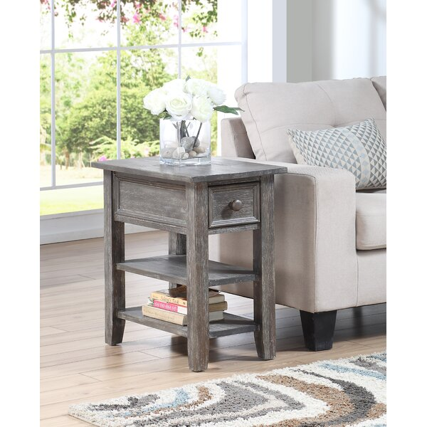 Gabbert End Table with Storage by Highland Dunes