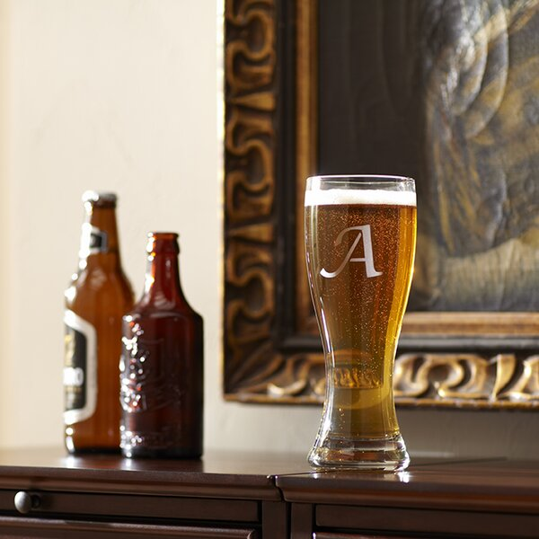 Monogrammed Pilsner Glasses (Set of 4) by Birch Lane™