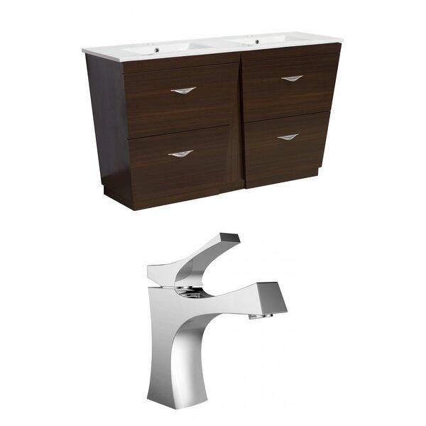 Kao Modern Floor Mount 59 Single Bathroom Vanity Set by Royal Purple Bath Kitchen