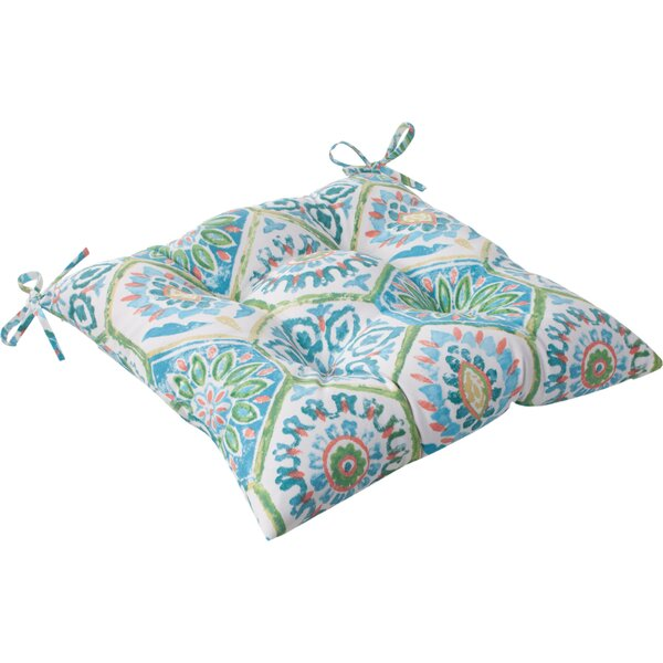 Burkburnett Indoor/Outdoor Seat Cushion with Ties (Set of 2) by Bungalow Rose