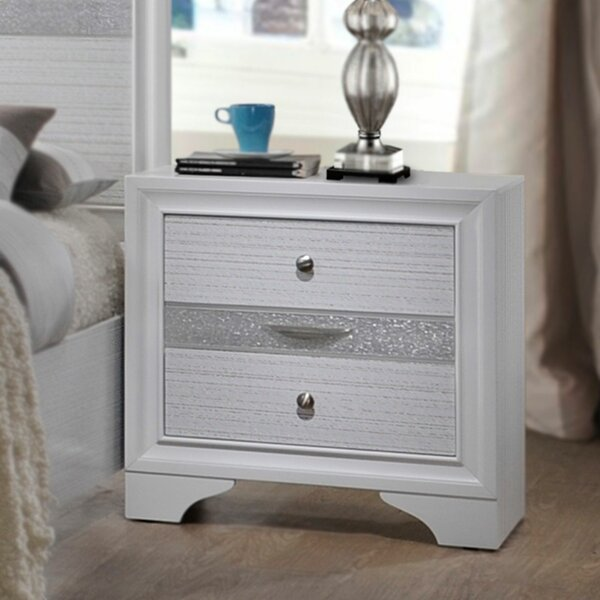 Ines 3 Drawer Nightstand by House of Hampton