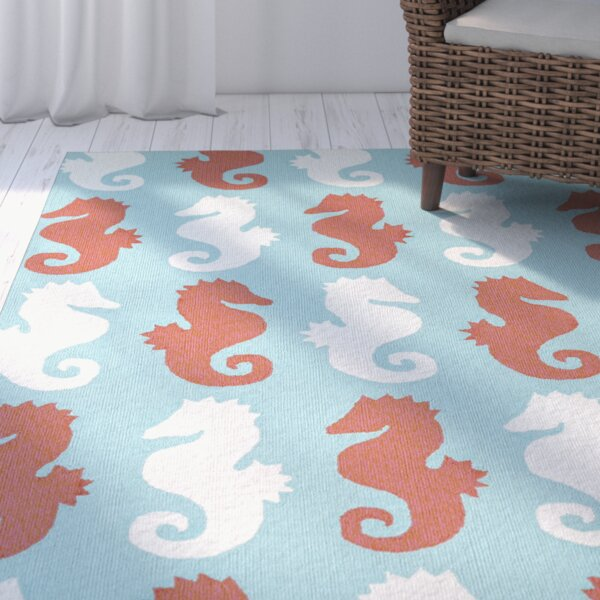 Sereno Handmade Rectangle Abstract Indoor/Outdoor Area Rug by Beachcrest Home