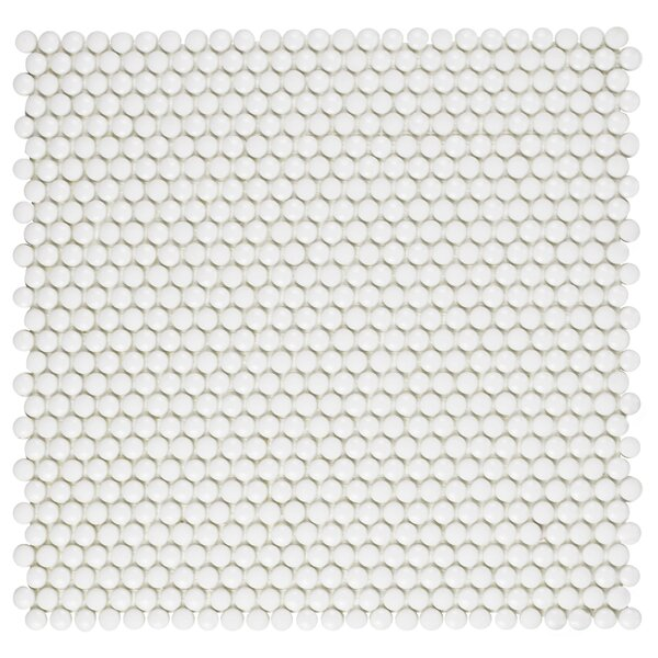 Esamo 12.5 x 12.5 Glass Mosaic Tile in White by EliteTile