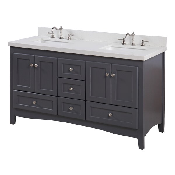 Abbey 60 Double Bathroom Vanity Set by Kitchen Bath Collection