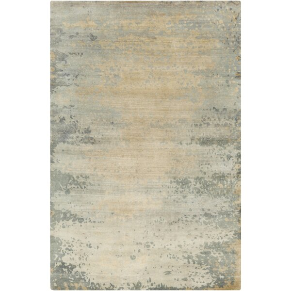Siobhan Hand-Knotted Light Gray Area Rug by 17 Stories