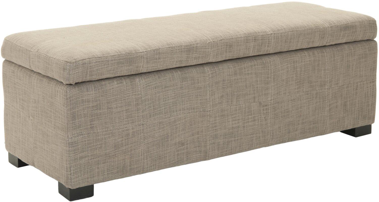 park upholstered storage bench. safavieh park upholstered storage bench  reviews  wayfair