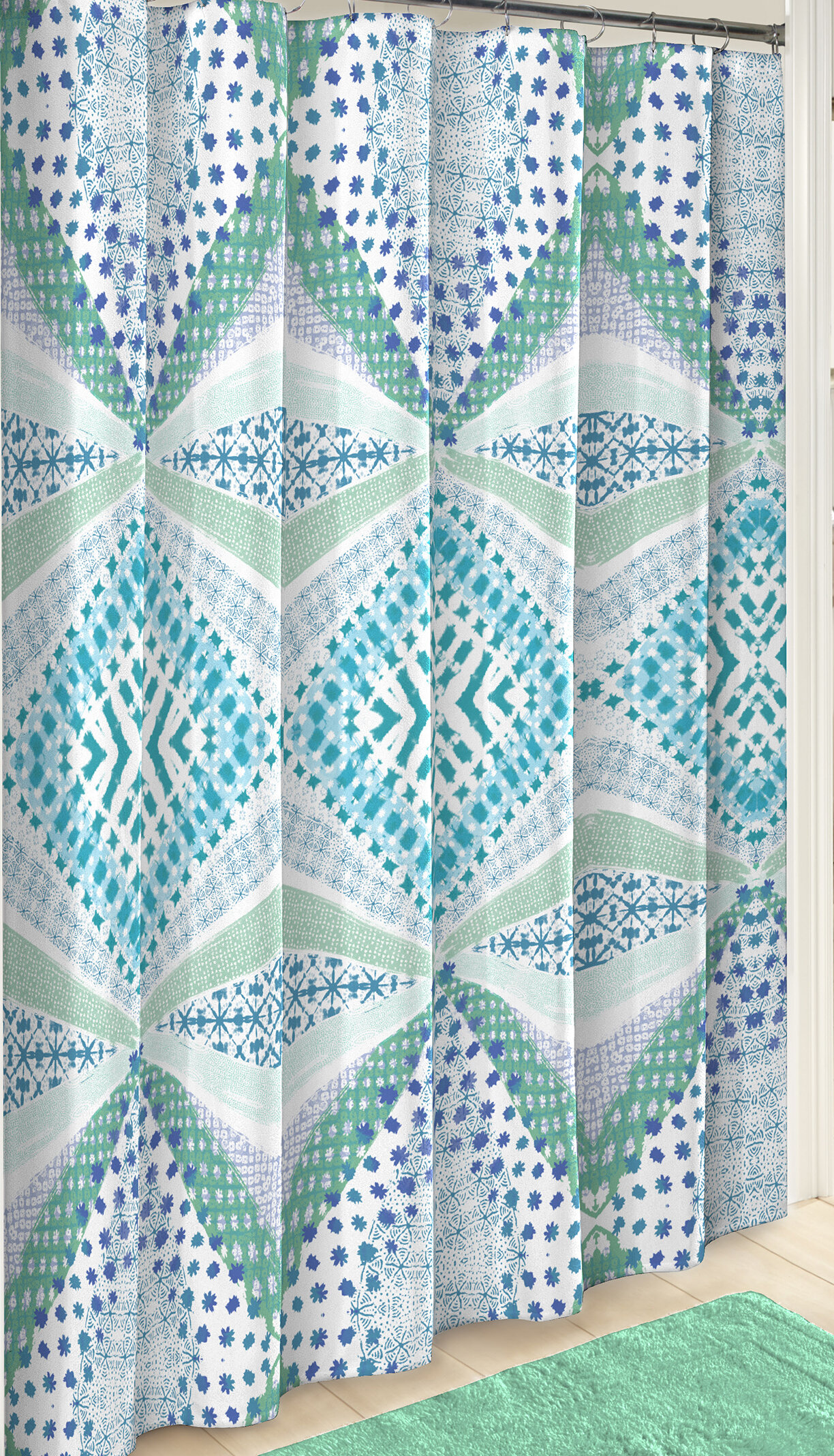 Wrought Studio Kenny Boho Boutique Cotton Shower Curtain