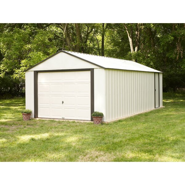 Murryhill 12 ft. 2 in. W x 16 ft. 11 in. D Metal Garage Shed by Arrow