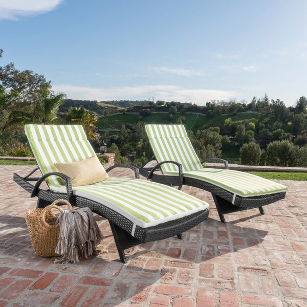 Abra Outdoor Wicker Arm Chaise Lounge (Set of 2) by Darby Home Co