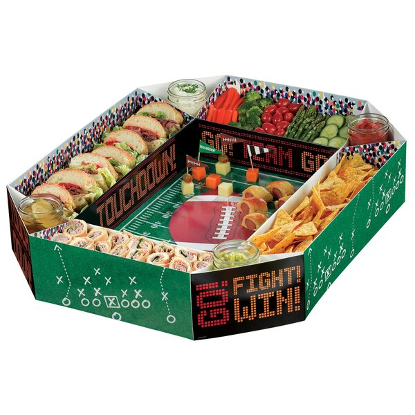 Football Snack Stadium Chip and Dip Platter by Amscan