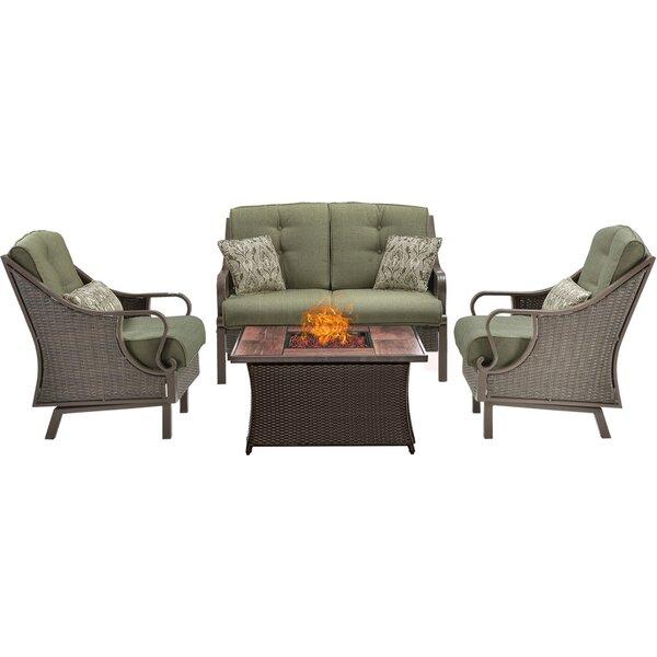 Sherwood 4 Piece Sofa Set with Cushions by Three Posts Three Posts