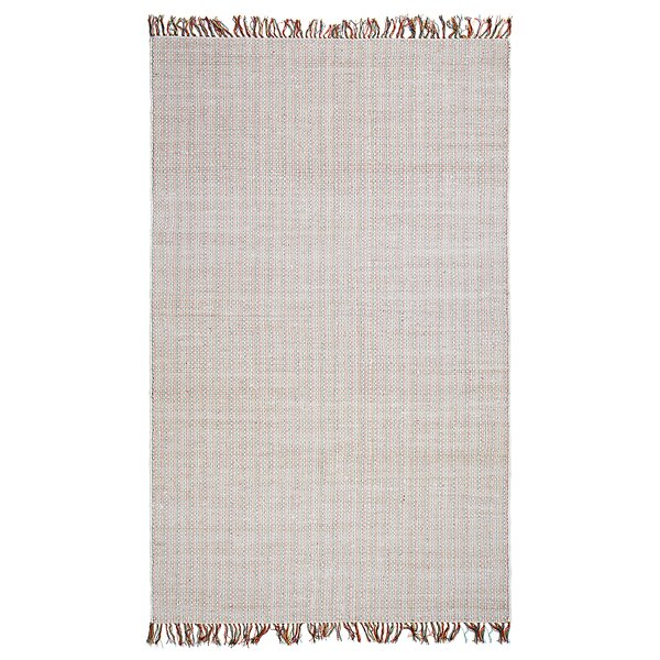 Curcio Boho West Hand-Woven White Area Rug by Mistana