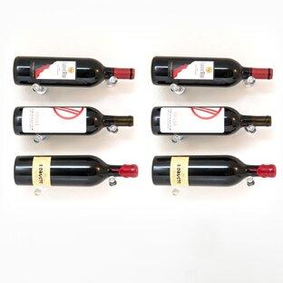Iowa 6 Bottle Wall Mounted Wine Bottle Rack by Rebrilliant Rebrilliant