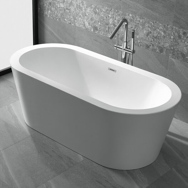 Ares 67 x 31.5 Freestanding Soaking Bathtub by ANZZI
