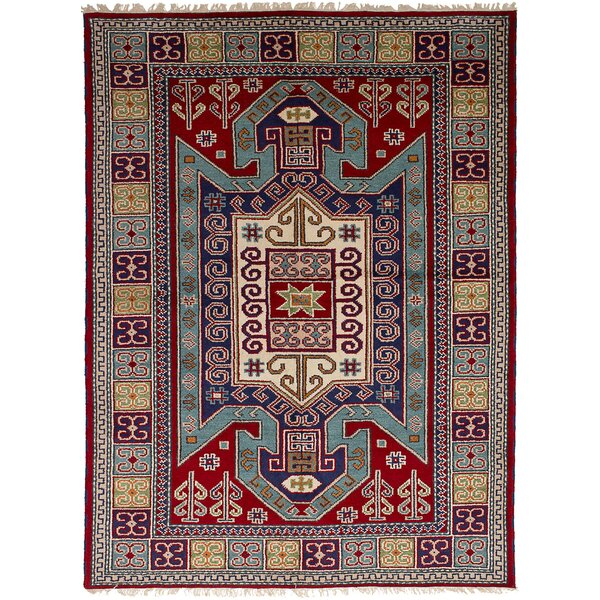One-of-a-Kind Doering Handmde Wool Red Area Rug by Isabelline