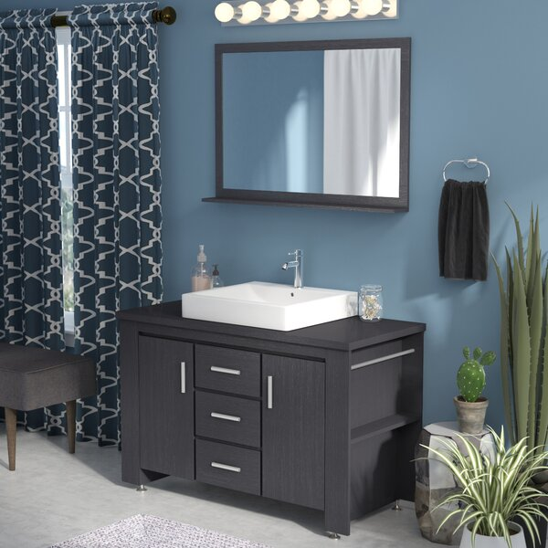 Blaser 48 Single Bathroom Vanity Set with Mirror by Wade Logan
