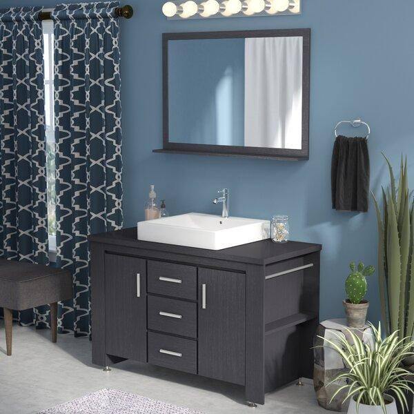 Blaser 48 Single Bathroom Vanity Set with Mirror by Wade Logan