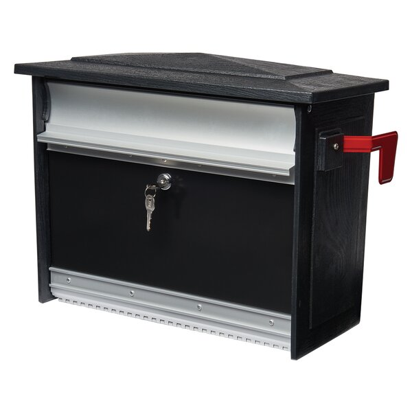 Mailsafe Locking 17 in x 13 in Aluminum Wall Mounted Mailbox by Gibraltar Mailboxes