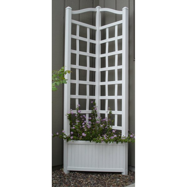 Oxford Planter Vinyl Lattice Panel Trellis by Dura-Trel