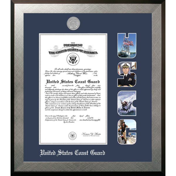 Coast Guard Certificate Honors Picture Frame by Patriot Frames
