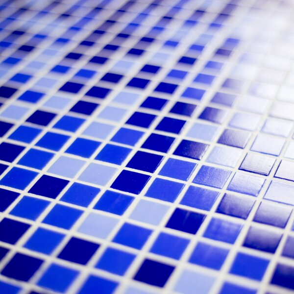Swimming Pool 0.63 x 0.63 Glass Mosaic Tile in Alice Blue by Abolos