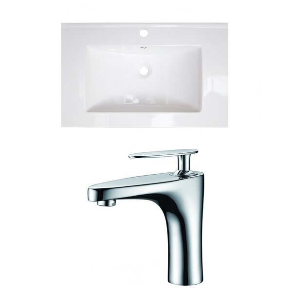 Flair Ceramic 24 Single Bathroom Vanity Top by Royal Purple Bath Kitchen