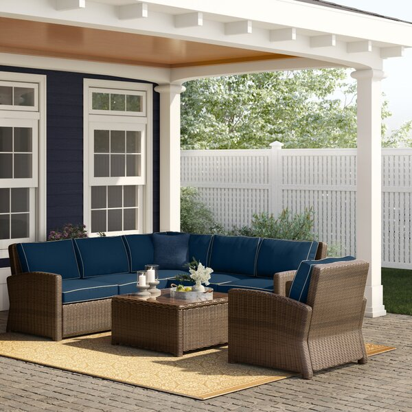 Lawson 5 Piece Sectional Seating Group with Cushions by Birch Lane Heritage Birch Lane™ Heritage