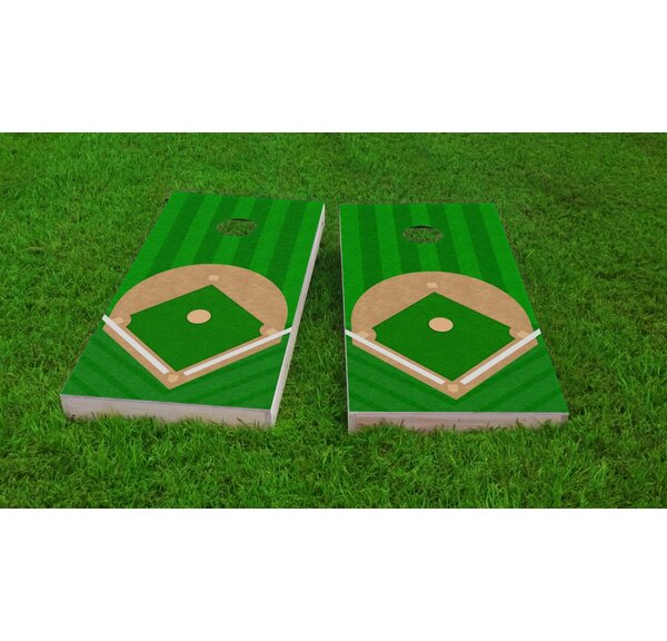 Baseball Diamond Light Weight Cornhole Game Set by Custom Cornhole Boards