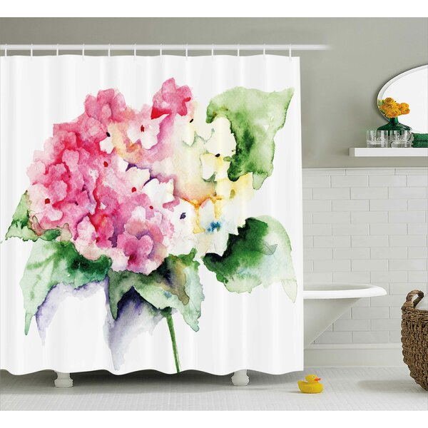 Hydrangea Shower Curtain by East Urban Home