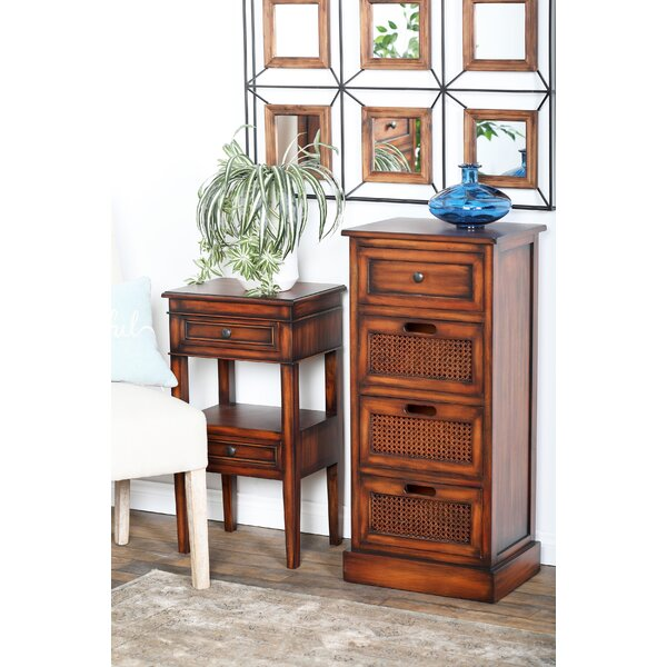 Bryce Rustic Rectangular Storage 4 Drawer Accent Chest by Bay Isle Home