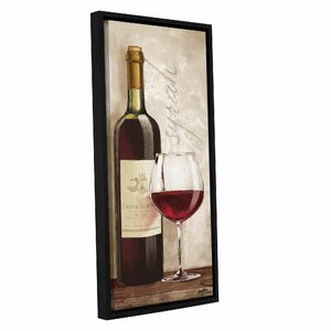 'Wine In Paris VI' Framed Graphic Art by Charlton Home