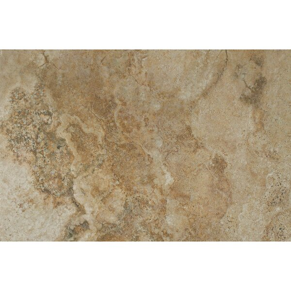 Forge Ink Jet Brushed Texture 13 x 20 Porcelain Tile in Walnut by Bedrosians