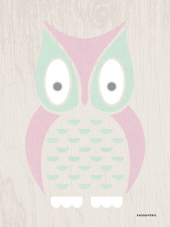 Modern Animals Owl Canvas Art by Oopsy Daisy