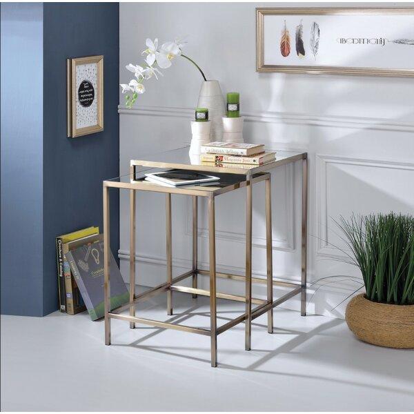 Buy Sale Lucchesi Astonishing 2 Piece Nesting Table