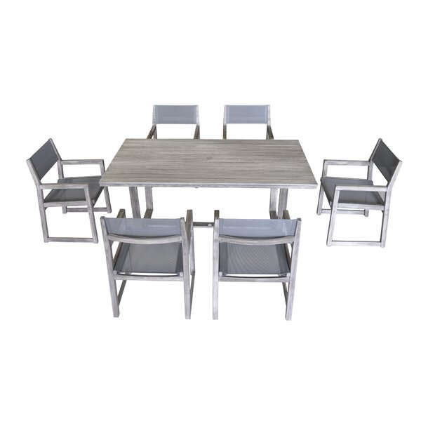 Joanne 7 Piece Teak Dining Set by Gracie Oaks