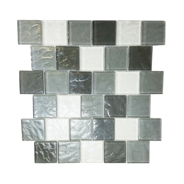 Geo 2 x 2 Glass Mosaic Tile in Gray by Abolos