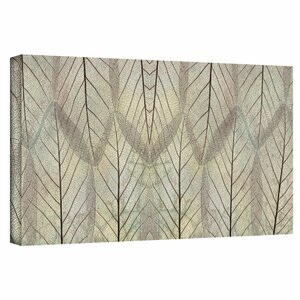 'Leaf Design' by Cora Niele Graphic Art on Wrapped Canvas by ArtWall
