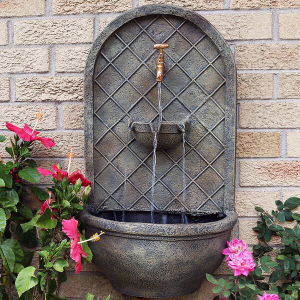 Messina Polystone Electric Wall Fountain by Wildon