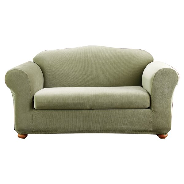 Stretch Madison Box Cushion Loveseat Slipcover by Sure Fit