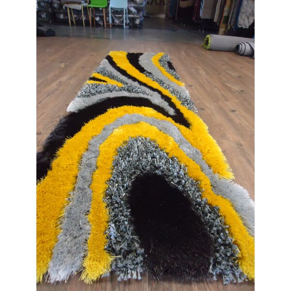 Hand-Tufted Gray/yellow Area Rug By Rug Factory Plus.