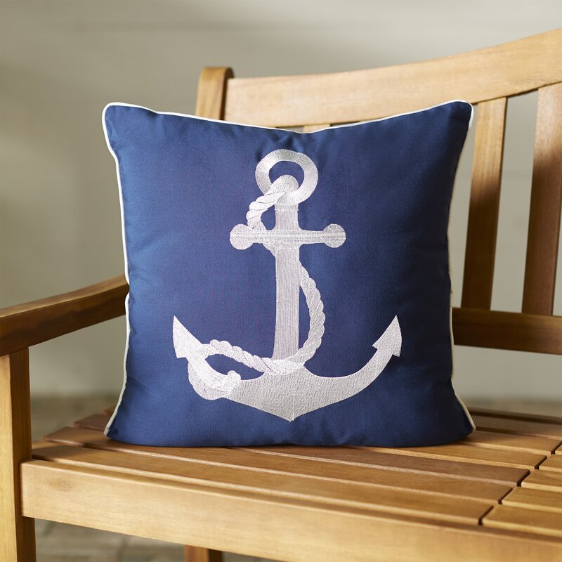 Elegant Drop Anchor Outdoor Pillow
