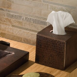Hand Hammered Tissue Box Cover by Native Trails, Inc.