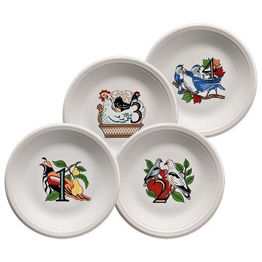 Twelve Days of Christmas Salad Platter (Set of 4) by Fiesta