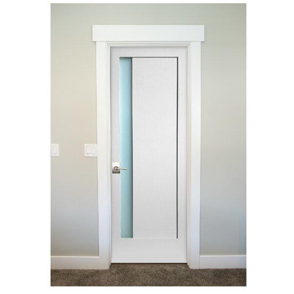 1 Lite Narrow Satin Etch Solid Manufactured Wood Glass MDF Slab Interior Door by Stile Doors