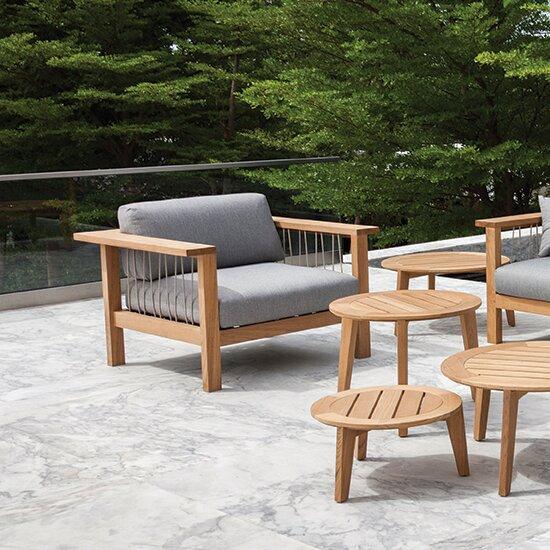Maro Teak Patio Chair with Cushions by OASIQ