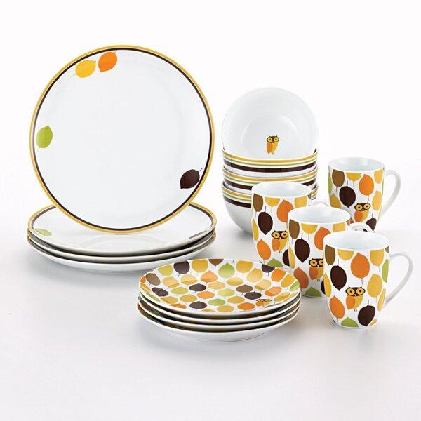 Little Hoot 16 Piece Dinnerware Set by Rachael Ray
