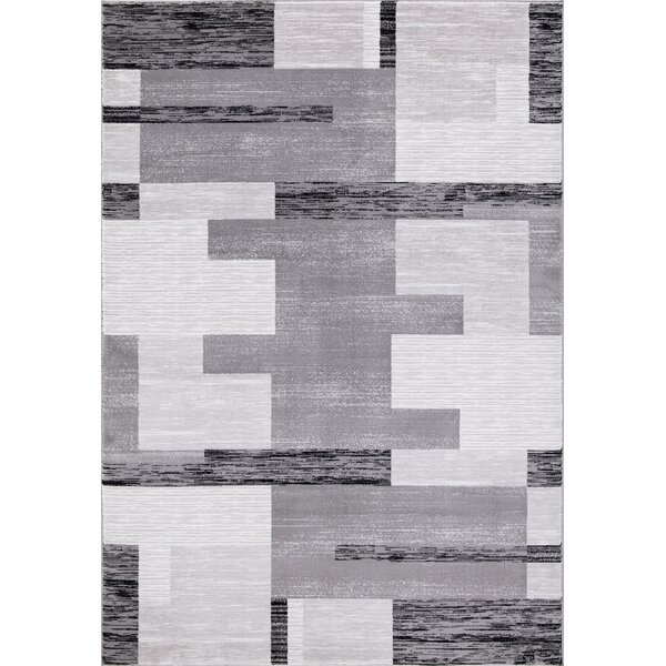 Him Premium Geometric Vintage Gray Area Rug by Orren Ellis