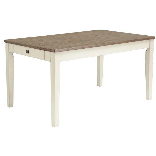 Macklin Solid Wood Dining Table by Highland Dunes