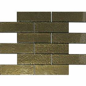 Cartagena 6 x 2 Glass Field Tile in Ochre by Vetromani