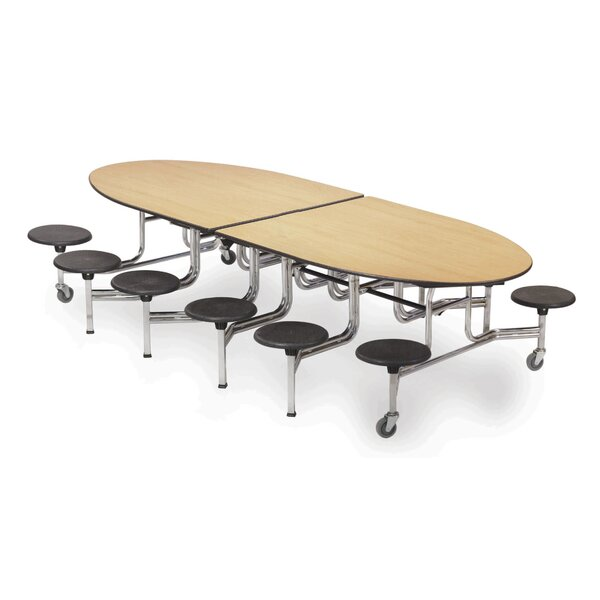 121 Elliptical Cafeteria Table by AmTab Manufacturing Corporation